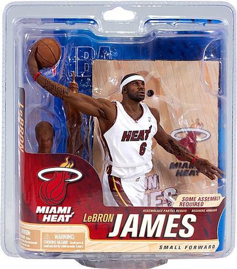 McFarlane Toys NBA Miami Heat Sports Picks Series 21 Lebron James Action Figure [White Jersey]