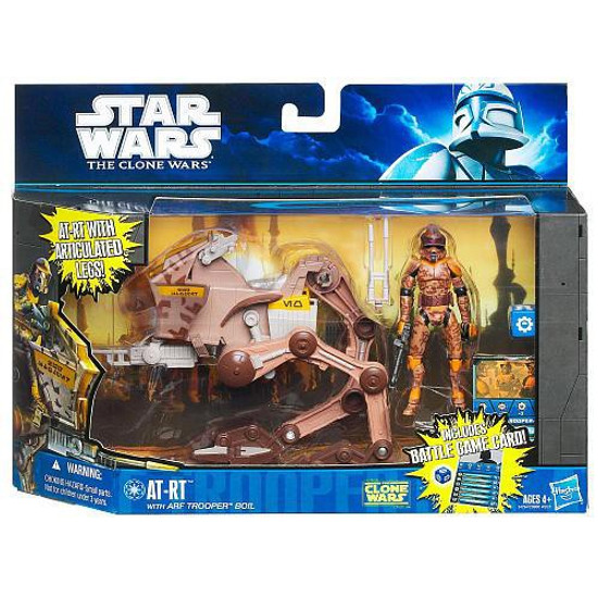 Star Wars The Clone Wars 2010 AT-RT with ARF Trooper Boil Action Figure & Vehicle