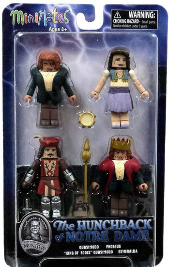 Universal Monsters MiniMates The Hunchback of Notre Dame Minifigure 4-Pack