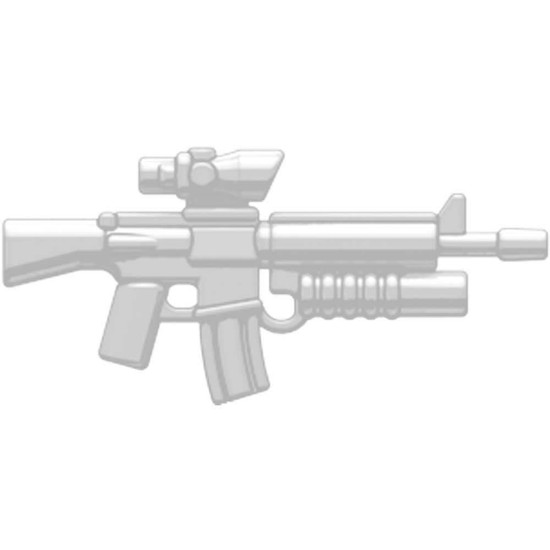 BrickArms M16-AGL ACOG Scope & Grenade Launcher 2.5-Inch [White]