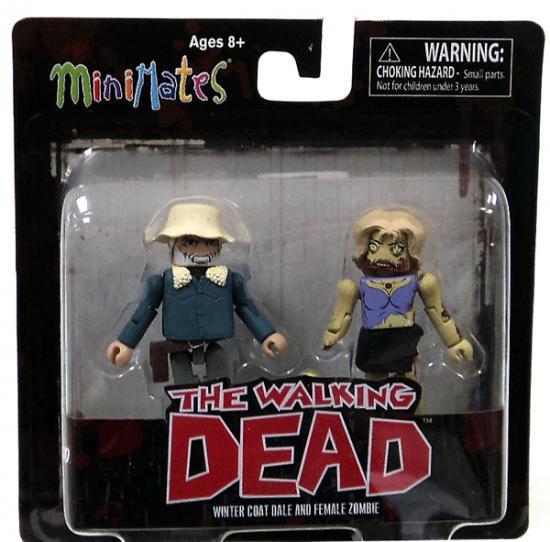 The Walking Dead Minimates Series 1 Winter Coat Dale & Female Zombie Minifigure 2-Pack