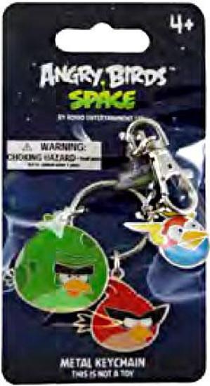 Angry Birds Space Monster Bird, Super Red Bird & Lightning Bird Metal Keychains