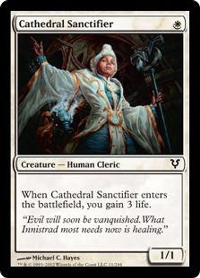 MtG Avacyn Restored Common Cathedral Sanctifier #11