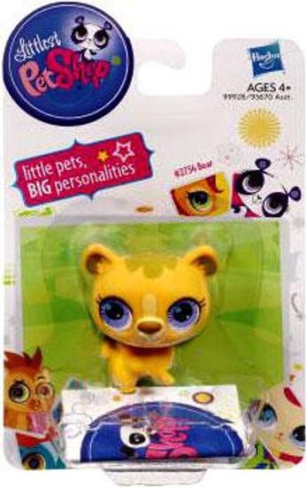 Littlest Pet Shop Bear Figure #2754 [Yellow]