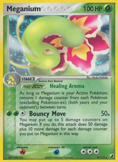 Pokemon EX Unseen Forces Rare Holo Meganium #9