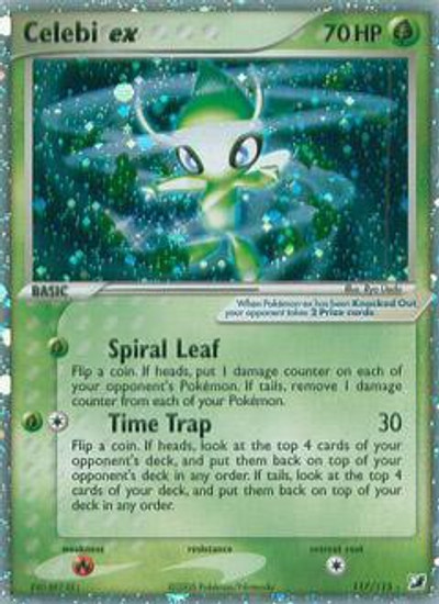 Pokemon Unseen Forces Ultra Rare Celebi ex #117