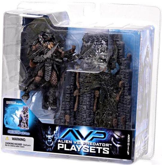 McFarlane Toys Alien vs Predator Alien vs. Predator Movie Playsets Scar Predator with Victim Action Figure Set
