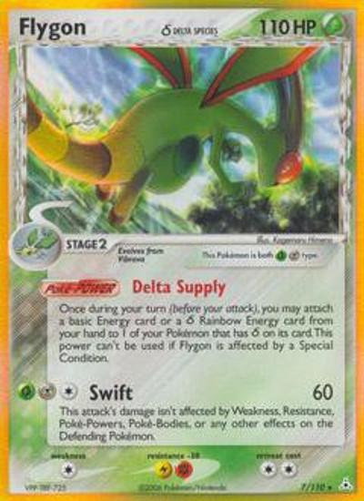 Pokemon EX Holon Phantoms Rare Holo Flygon [Delta Species] #7
