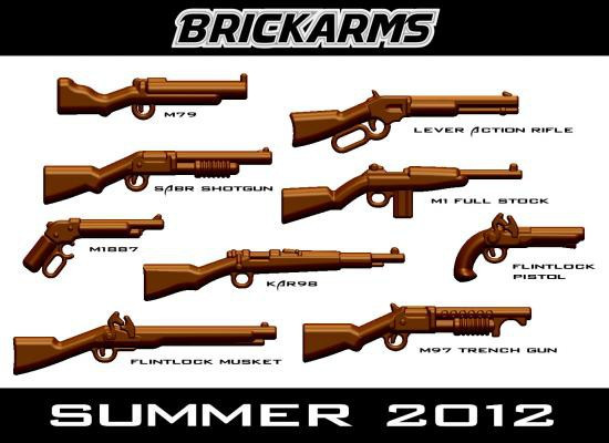 BrickArms Summer 2012 2.5-Inch Weapons Pack [Brown]