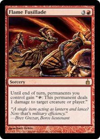 MtG Ravnica: City of Guilds Rare Flame Fusillade #123