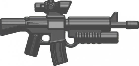 BrickArms M16-AGL ACOG Scope & Grenade Launcher 2.5-Inch [Gunmetal]