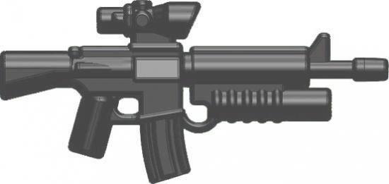 BrickArms M16-AGL ACOG Scope & Grenade Launcher 2.5-Inch [Gunmetal]