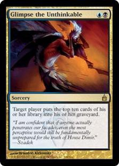 MtG Ravnica: City of Guilds Rare Glimpse the Unthinkable #208