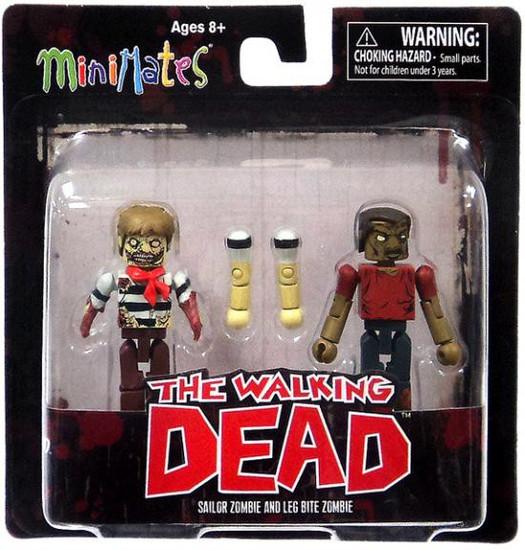 The Walking Dead Minimates Series 2 Sailor Zombie & Leg Bite Zombie Minifigure 2-Pack