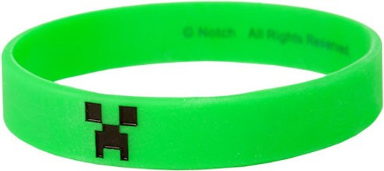 Minecraft Green Creeper Rubber Bracelet [Large]