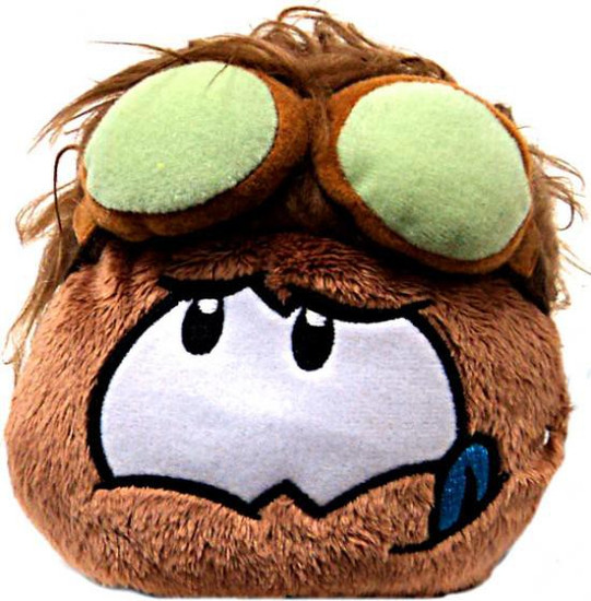 Club Penguin Series 11 Brown Puffle Exclusive 4-Inch Plush [Goggles]