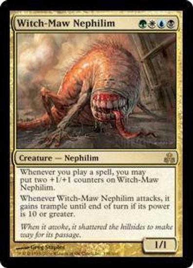 MtG Guildpact Rare Witch-Maw Nephilim #138