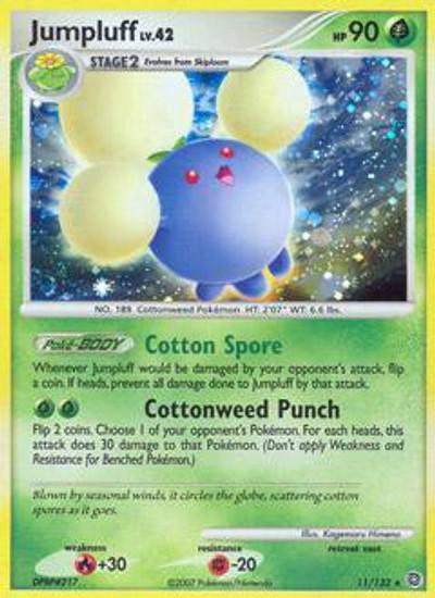 Pokemon Diamond & Pearl Secret Wonders Rare Jumpluff #11