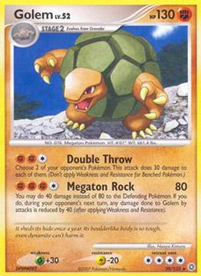 Pokemon Diamond & Pearl Secret Wonders Rare Golem #29