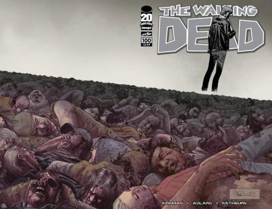 Image Comics The Walking Dead #100 Comic Book [Charlie Adlard Wraparound Cover]