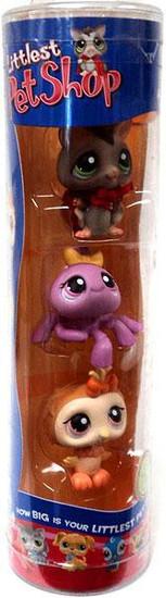 Littlest Pet Shop Halloween Sugar Glider, Spider & Owl Figure 3-Pack