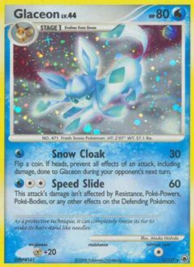 Pokemon Diamond & Pearl Majestic Dawn Rare Glaceon #5