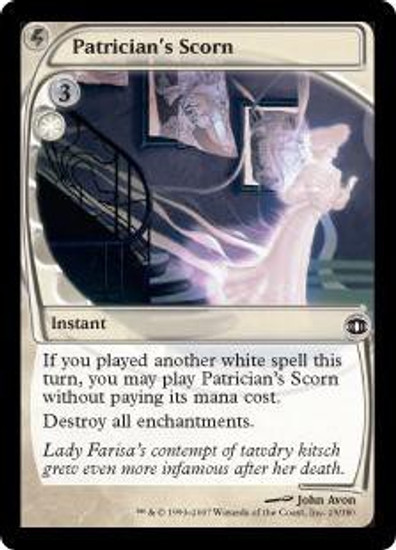 MtG Future Sight Common Patrician's Scorn #29