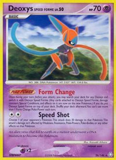 Pokemon Diamond & Pearl Legends Awakened Rare Deoxys Speed Forme #26