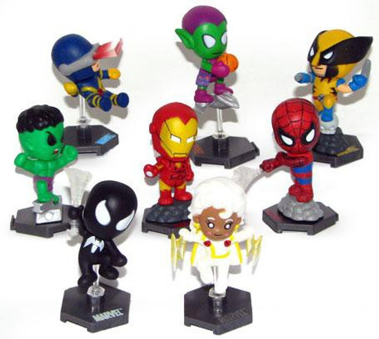 Marvel Grab Zags Set of 8 PVC Figures