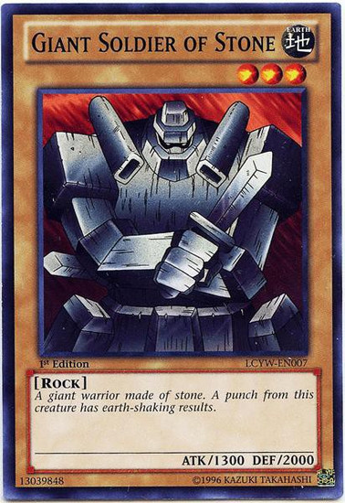 YuGiOh Legendary Collection 3 Common Giant Soldier of Stone LCYW-EN007