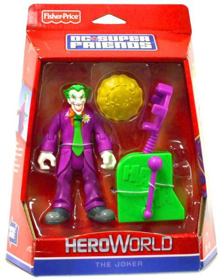Fisher Price Batman DC Super Friends Hero World The Joker Action Figure