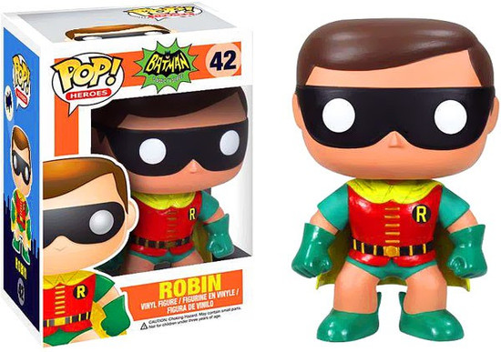 Funko Batman 1966 TV Series POP! Heroes Robin Vinyl Figure #42 [1966 TV Series]