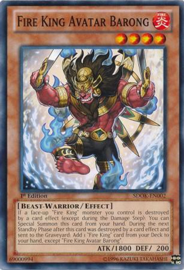 YuGiOh Structure Deck: Onslaught of the Fire Kings Common Fire King Avatar Barong SDOK-EN002