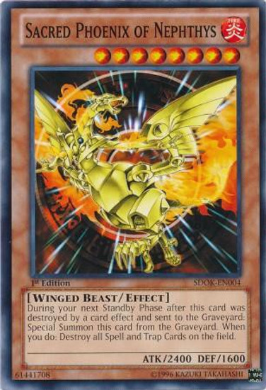 YuGiOh Structure Deck: Onslaught of the Fire Kings Common Sacred Phoenix of Nephthys SDOK-EN004