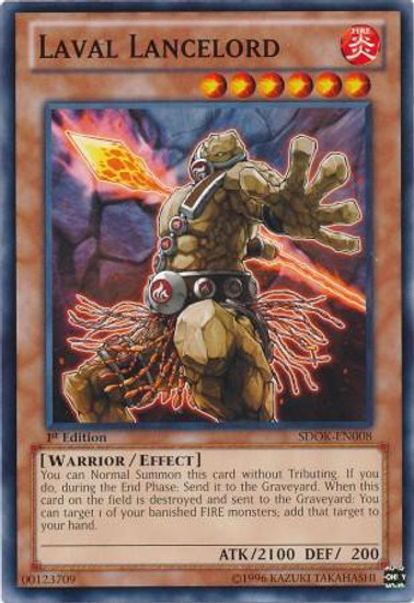 YuGiOh Structure Deck: Onslaught of the Fire Kings Common Laval Lancelord SDOK-EN008