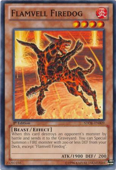 YuGiOh Structure Deck: Onslaught of the Fire Kings Common Flamvell Firedog SDOK-EN009