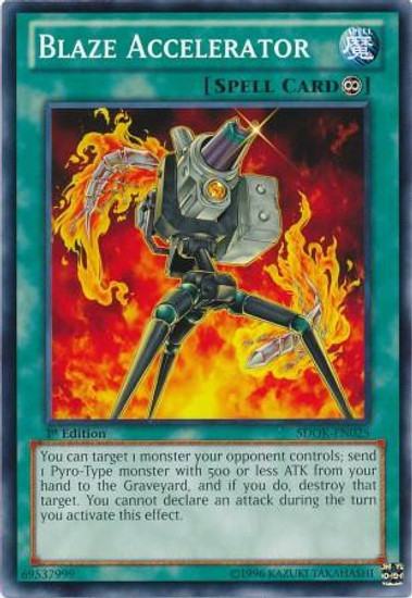 YuGiOh Structure Deck: Onslaught of the Fire Kings Common Blaze Accelerator SDOK-EN025