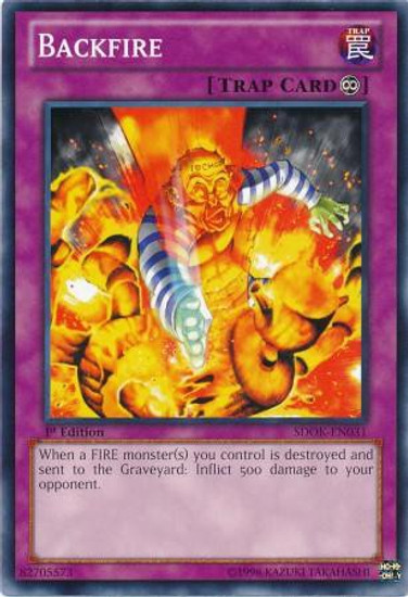 YuGiOh Structure Deck: Onslaught of the Fire Kings Common Backfire SDOK-EN031