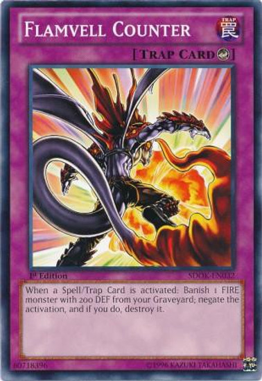YuGiOh Structure Deck: Onslaught of the Fire Kings Common Flamvell Counter SDOK-EN032