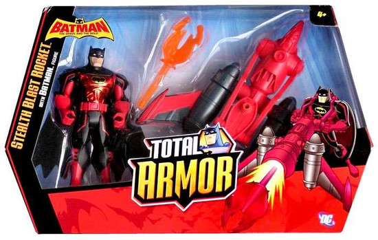 Batman Brave and the Bold Total Armor Stealth Blast Rocket Action Figure Set