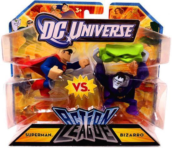 DC Universe Action League Superman vs. Bizarro 3-Inch Mini Figures