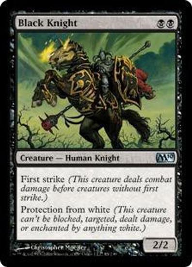 MtG 2010 Core Set Uncommon Black Knight #85