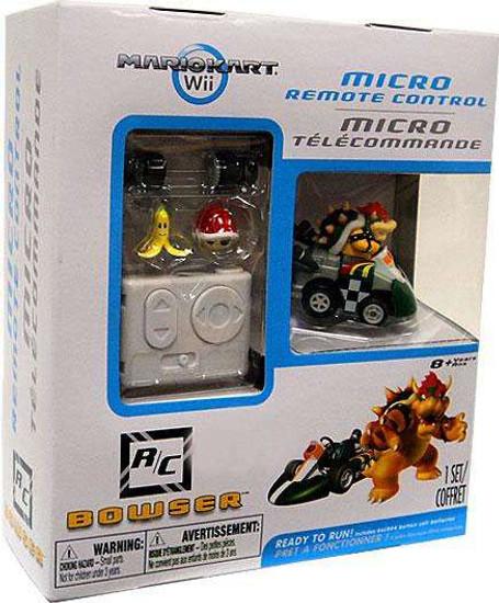 Super Mario Mario Kart Wii Micro Remote Control Bowser Exclusive R/C Vehicle