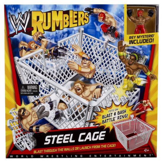 WWE Wrestling Rumblers Series 1 Steel Cage Ring Mini Figure Playset