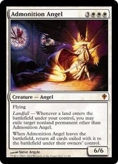 MtG Worldwake Mythic Rare Admonition Angel #1