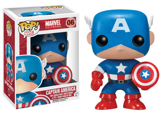 Funko Marvel Universe POP! Marvel Captain America Vinyl Bobble Head #06