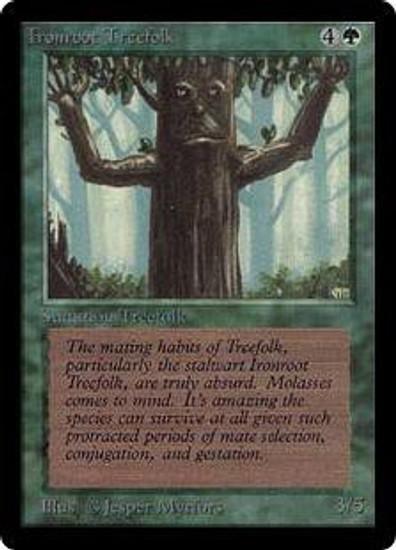 MtG Beta Common Ironroot Treefolk