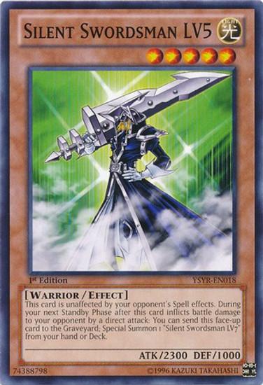 YuGiOh Trading Card Game Starter Deck: Yugi Reloaded Common Silent Swordsman LV5 YSYR-EN018