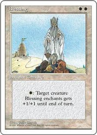 MtG 4th Edition Rare Blessing