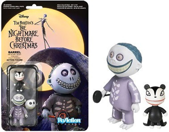 Funko Nightmare Before Christmas ReAction Barrel with Scary Teddy Action Figure